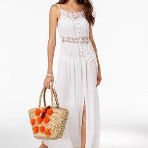 Raviya Crochet-Trim Cover-Up Maxi Dress